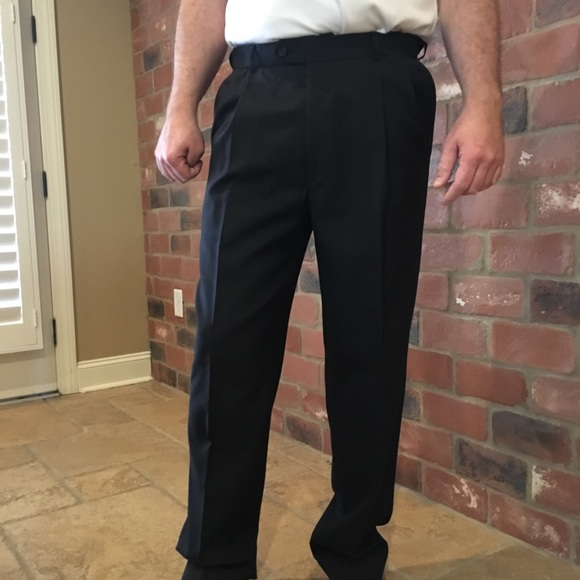 Austin Reed Pants Austin Reed Dark Navy Blue Slacks Altered 34 X 3 Poshmark